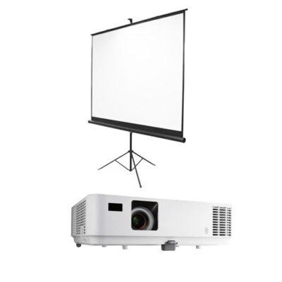 Proyectores y pantallas